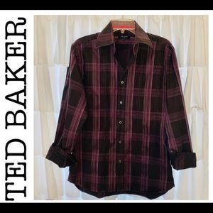 TED BAKER Button Down Shirt Sz L